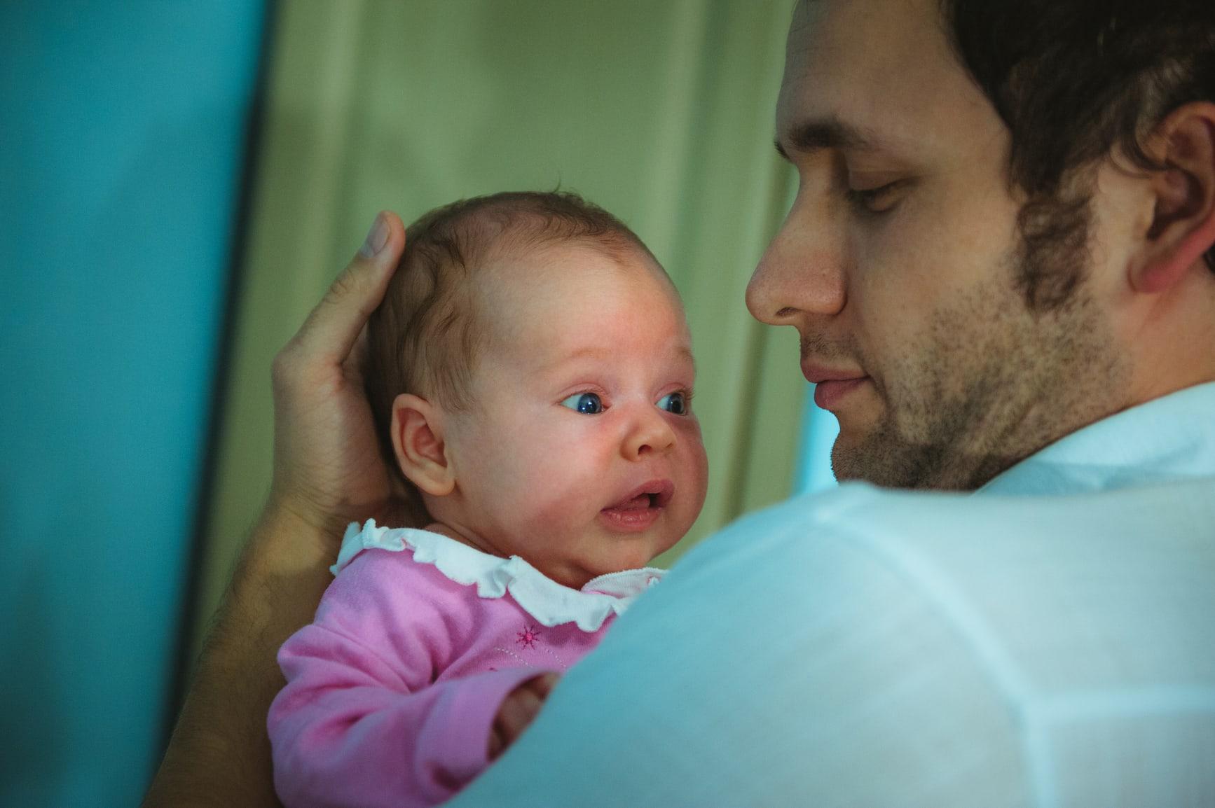 Фото папы с новорожденным ребенком